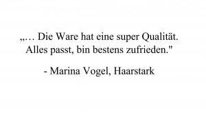 Marina Vogel, Haarstark